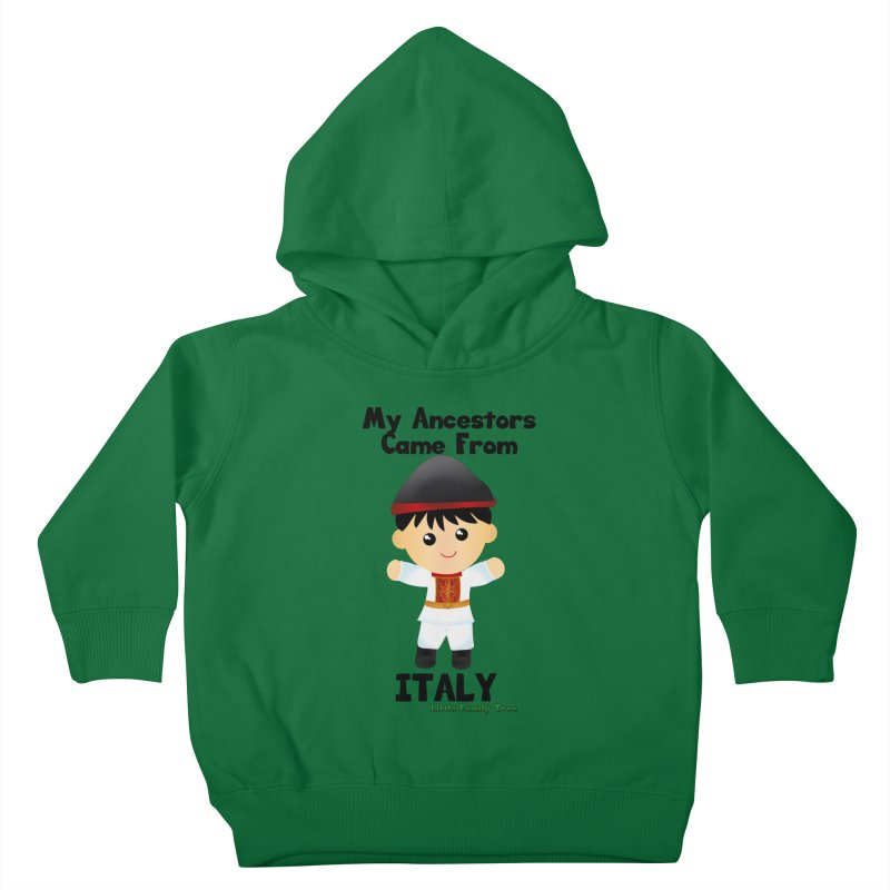 Italy Ancestors Boy Kids Toddler Pullover Hoody by Yellow Fork Tech's Shop