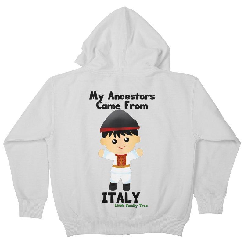 Italy Ancestors Boy Kids Zip-Up Hoody by Yellow Fork Tech's Shop