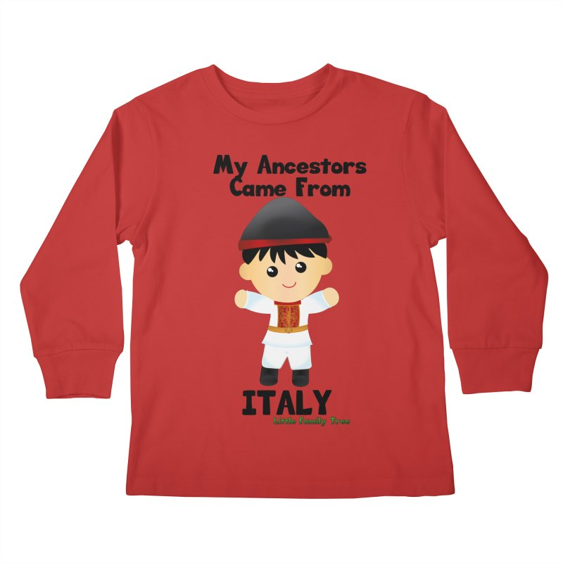 Italy Ancestors Boy Kids Longsleeve T-Shirt by Yellow Fork Tech's Shop