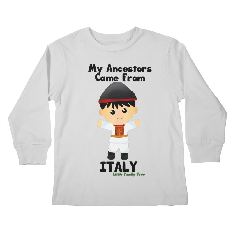 Italy Ancestors Boy Kids Longsleeve T-Shirt by Yellow Fork Tech's Shop