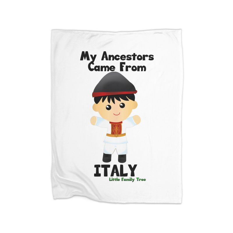 Italy Ancestors Boy Home Blanket by Yellow Fork Tech's Shop