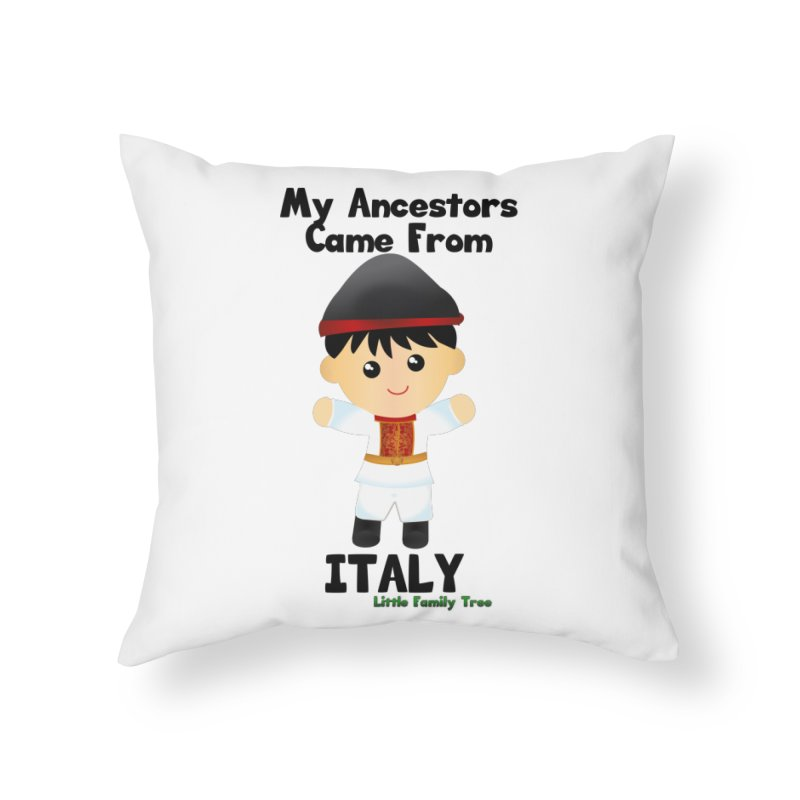 Italy Ancestors Boy Home Throw Pillow by Yellow Fork Tech's Shop