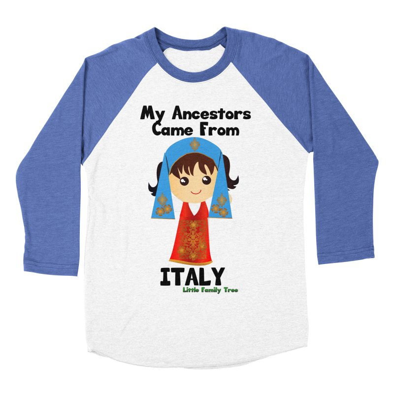 Italy Ancestors Girl Women's Baseball Triblend T-Shirt by Yellow Fork Tech's Shop