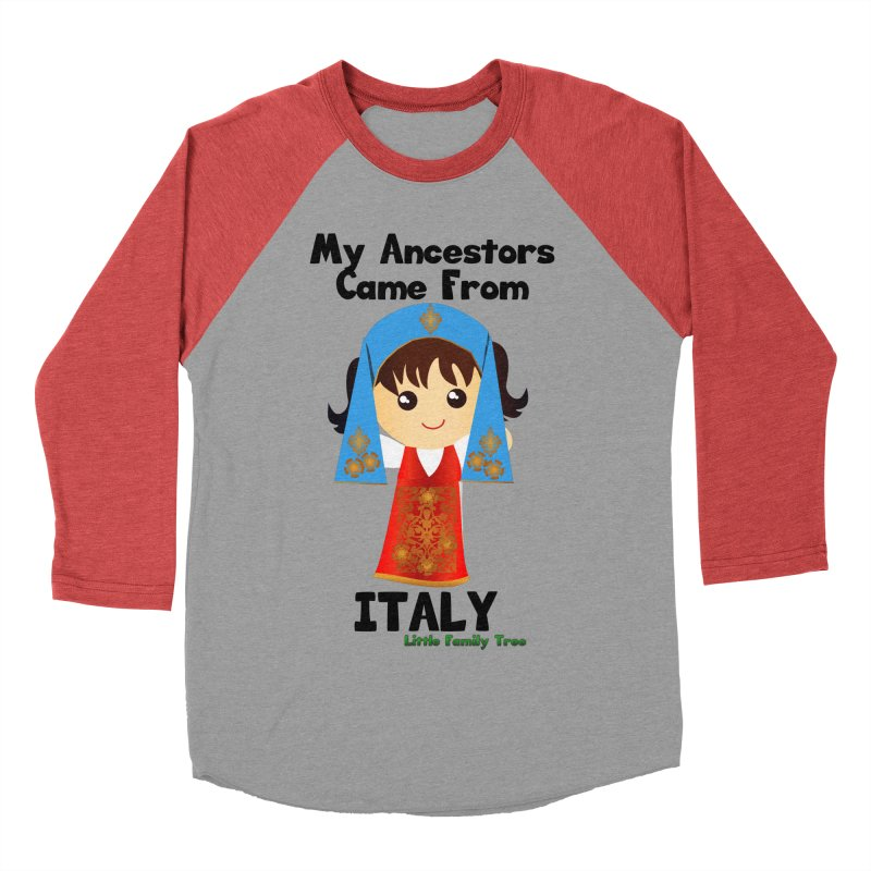 Italy Ancestors Girl Women's Baseball Triblend T-Shirt by Yellow Fork Tech's Shop