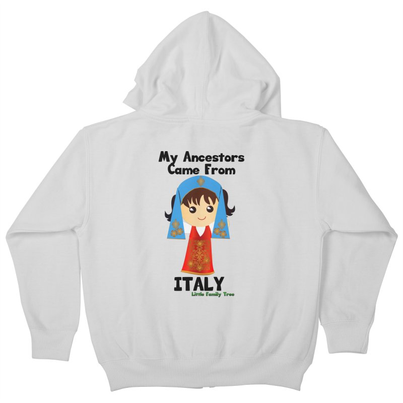 Italy Ancestors Girl Kids Zip-Up Hoody by Yellow Fork Tech's Shop
