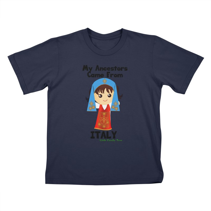 Italy Ancestors Girl Kids T-Shirt by Yellow Fork Tech's Shop