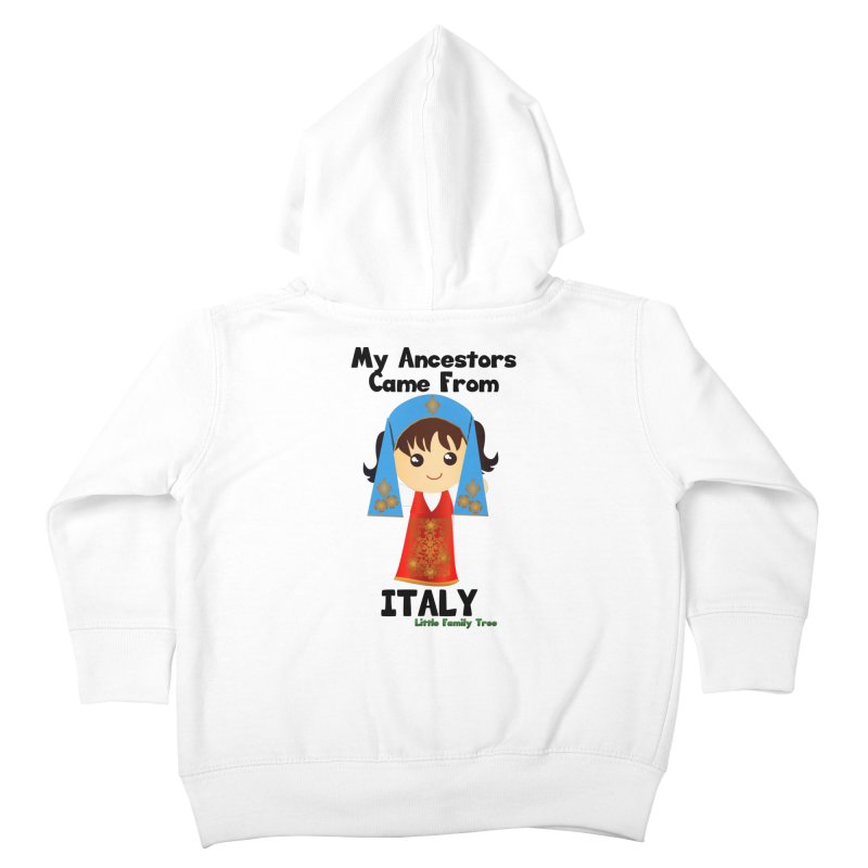 Italy Ancestors Girl Kids Toddler Zip-Up Hoody by Yellow Fork Tech's Shop