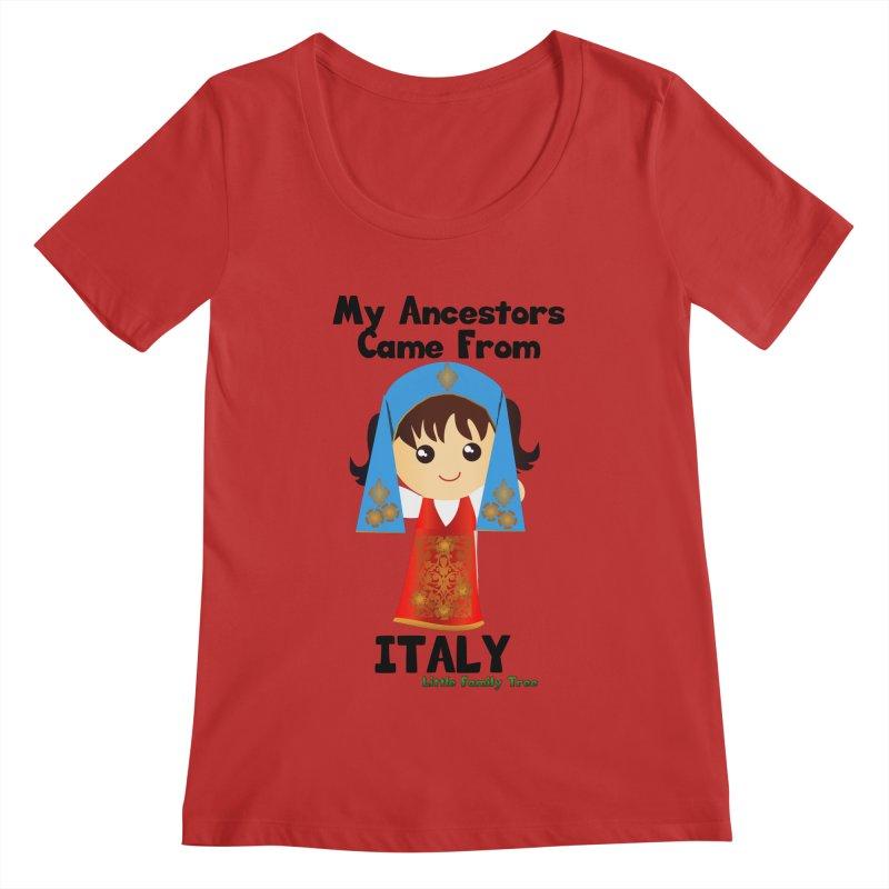 Italy Ancestors Girl Women's Scoopneck by Yellow Fork Tech's Shop