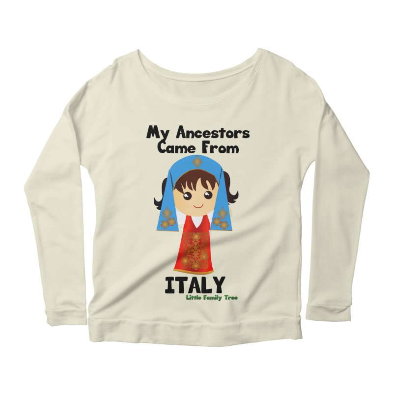 Italy Ancestors Girl Women's Longsleeve Scoopneck  by Yellow Fork Tech's Shop