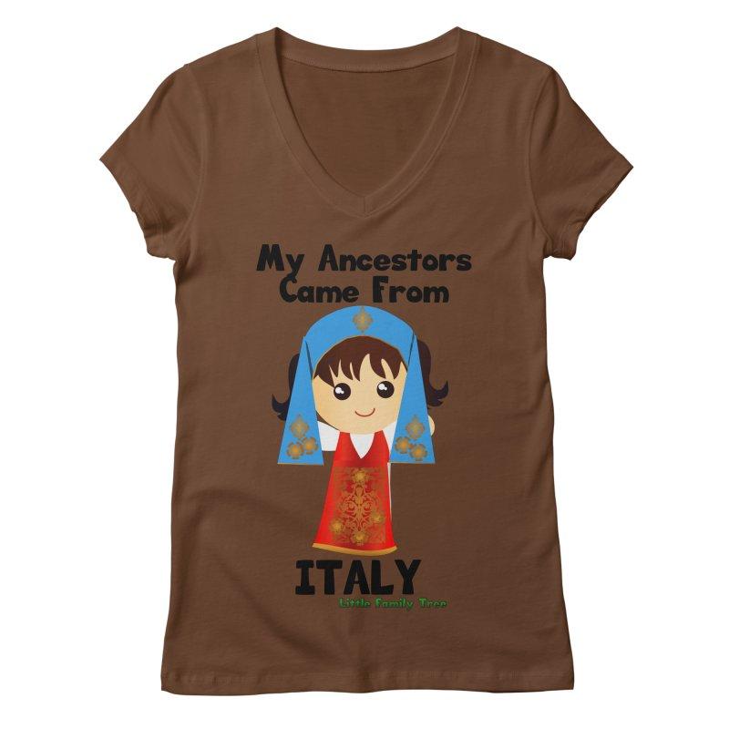 Italy Ancestors Girl Women's V-Neck by Yellow Fork Tech's Shop