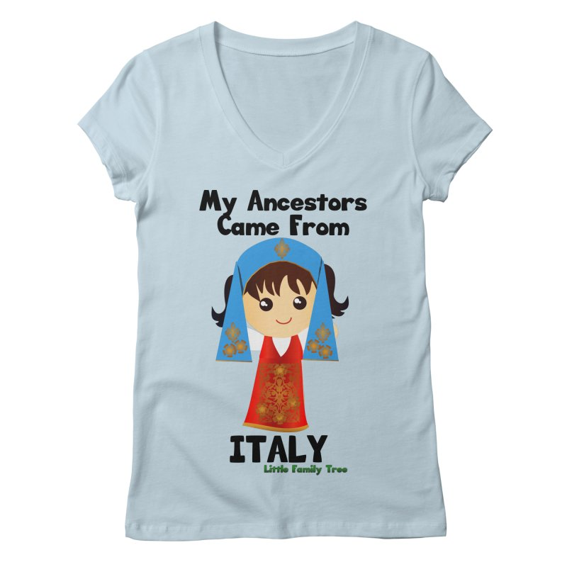 Italy Ancestors Girl Women's V-Neck by Yellow Fork Tech's Shop