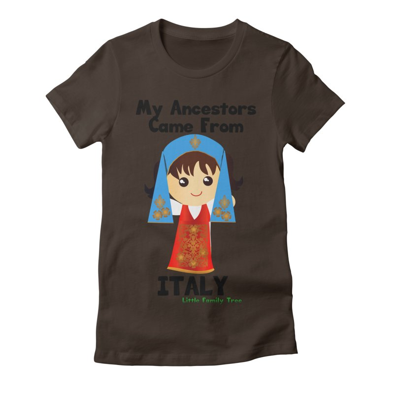 Italy Ancestors Girl Women's Fitted T-Shirt by Yellow Fork Tech's Shop