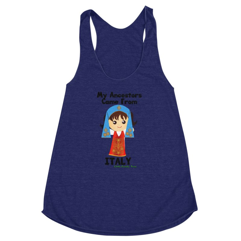 Italy Ancestors Girl Women's Racerback Triblend Tank by Yellow Fork Tech's Shop
