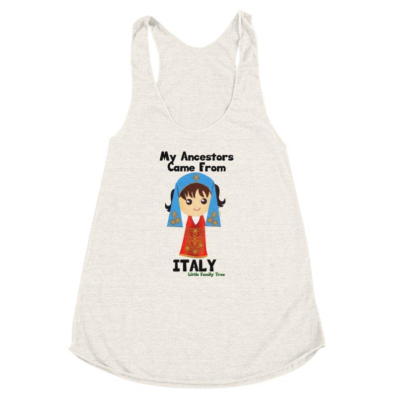 Italy Ancestors Girl Women's Racerback Triblend Tank by Yellow Fork Tech's Shop