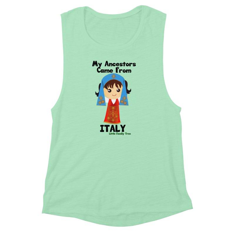 Italy Ancestors Girl Women's Muscle Tank by Yellow Fork Tech's Shop