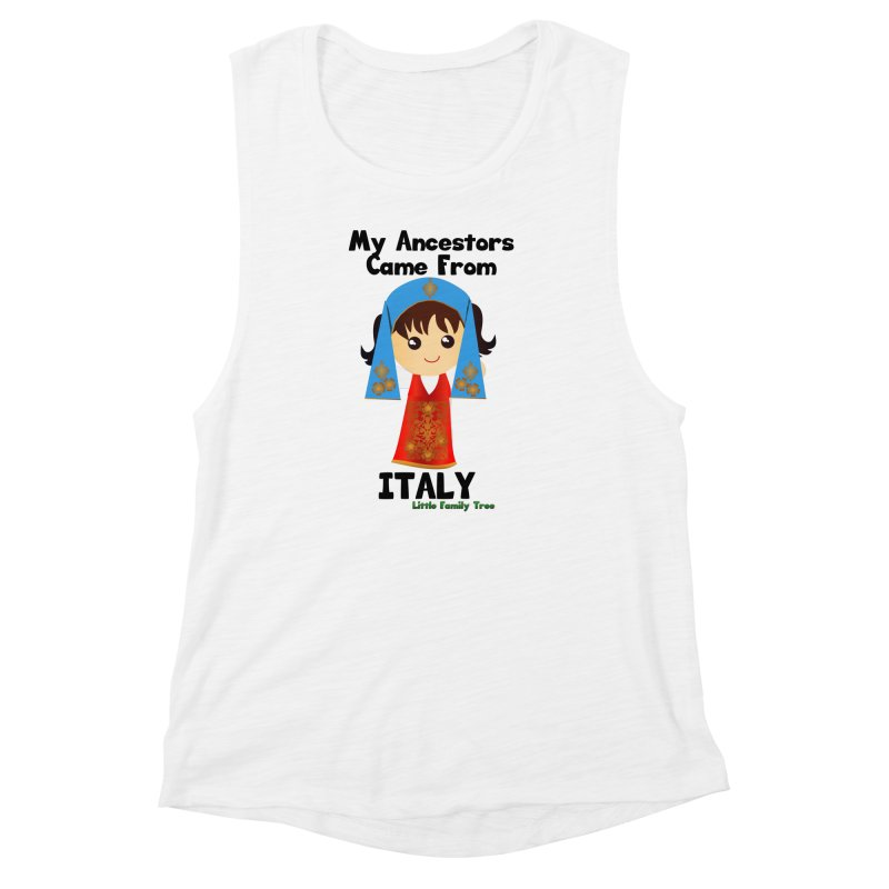 Italy Ancestors Girl Women's Muscle Tank by Yellow Fork Tech's Shop