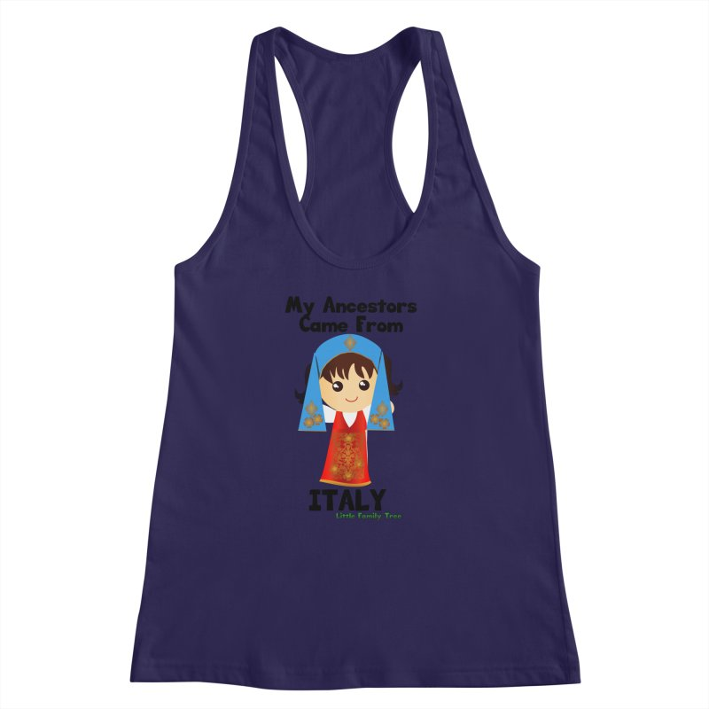 Italy Ancestors Girl Women's Racerback Tank by Yellow Fork Tech's Shop