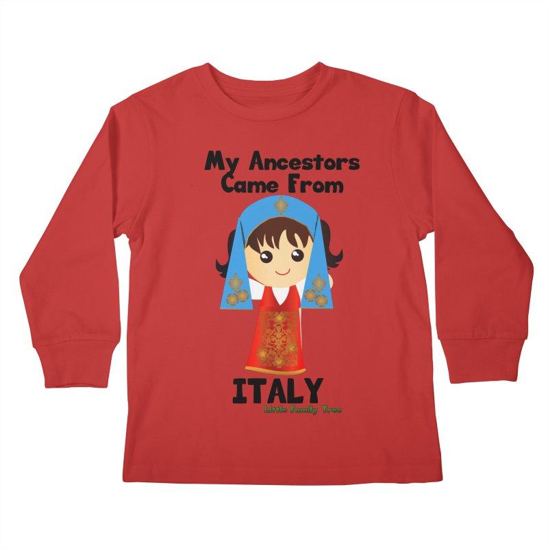 Italy Ancestors Girl Kids Longsleeve T-Shirt by Yellow Fork Tech's Shop