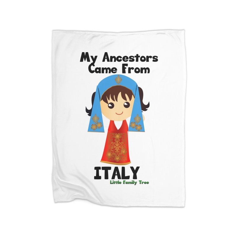 Italy Ancestors Girl Home Blanket by Yellow Fork Tech's Shop