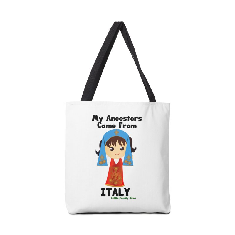 Italy Ancestors Girl Accessories Bag by Yellow Fork Tech's Shop