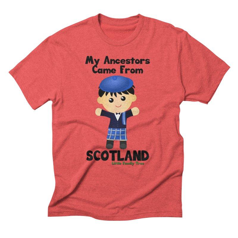 Scotland Ancestors Boy Men's Triblend T-shirt by Yellow Fork Tech's Shop