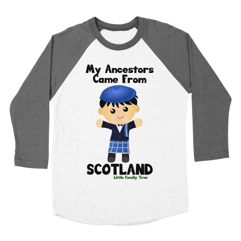 Scotland Ancestors Boy Men's Baseball Triblend T-Shirt by Yellow Fork Tech's Shop