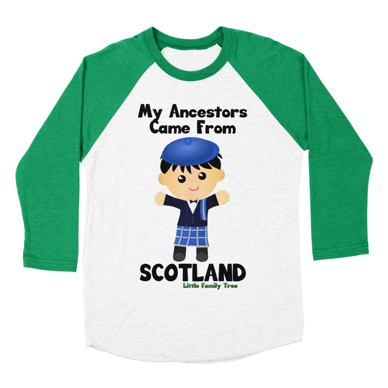Scotland Ancestors Boy Men's Baseball Triblend T-Shirt by Yellow Fork Tech's Shop