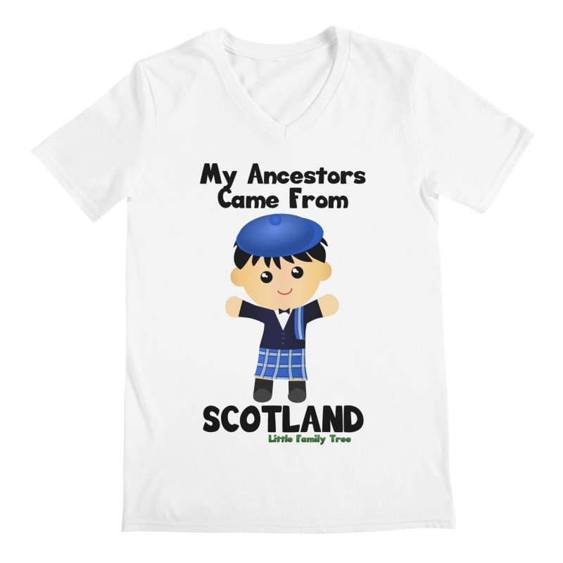 Scotland Ancestors Boy Men's V-Neck by Yellow Fork Tech's Shop