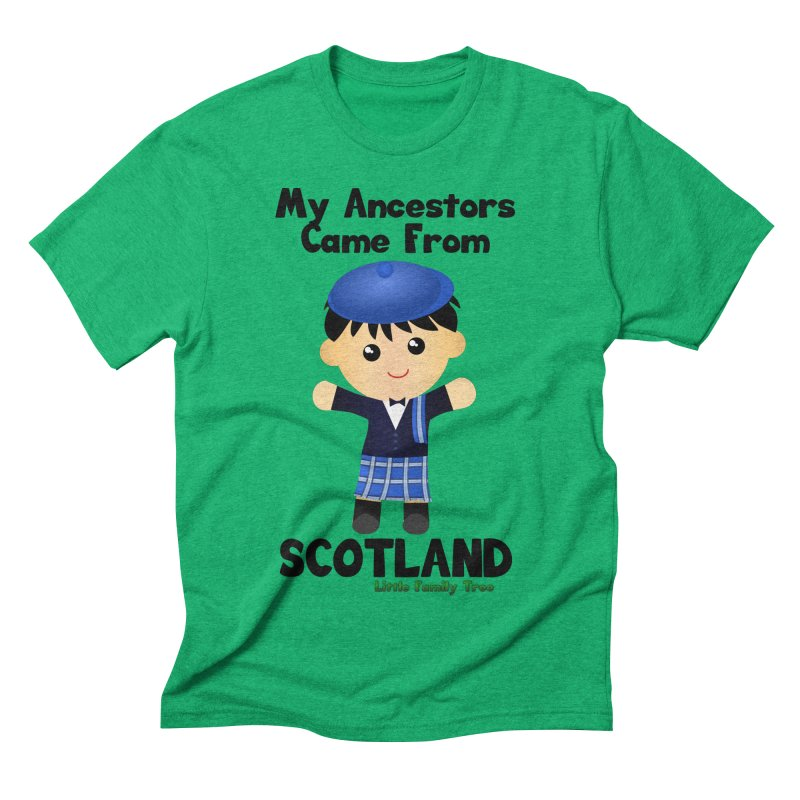 Scotland Ancestors Boy Men's Triblend T-shirt by Yellow Fork Tech's Shop