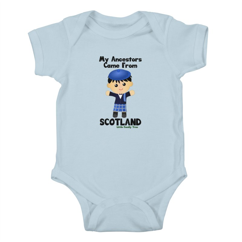 Scotland Ancestors Boy Kids Baby Bodysuit by Yellow Fork Tech's Shop