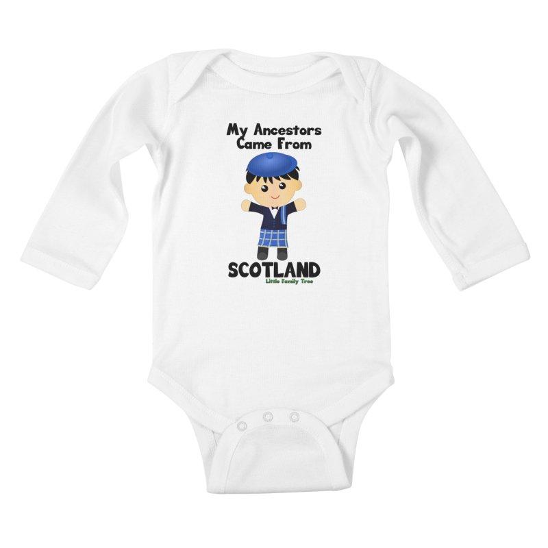 Scotland Ancestors Boy Kids Baby Longsleeve Bodysuit by Yellow Fork Tech's Shop