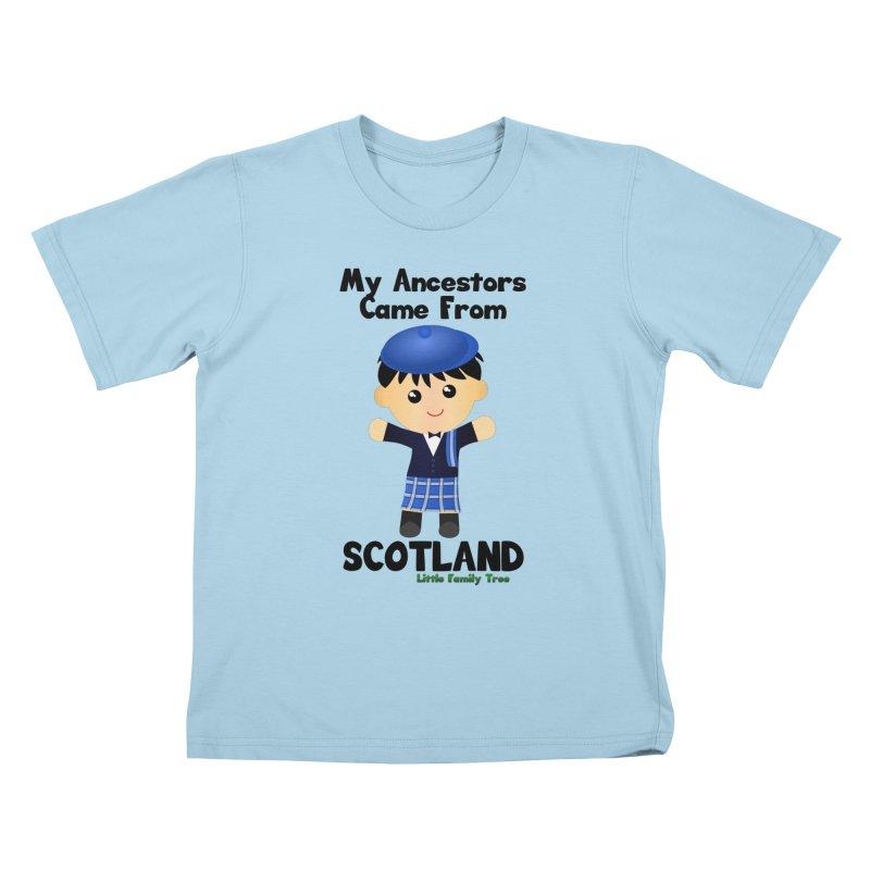 Scotland Ancestors Boy Kids T-shirt by Yellow Fork Tech's Shop