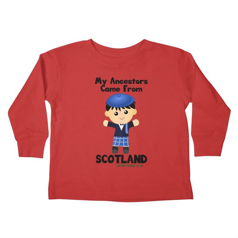 Scotland Ancestors Boy Kids Toddler Longsleeve T-Shirt by Yellow Fork Tech's Shop