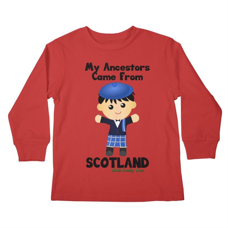 Scotland Ancestors Boy Kids Longsleeve T-Shirt by Yellow Fork Tech's Shop