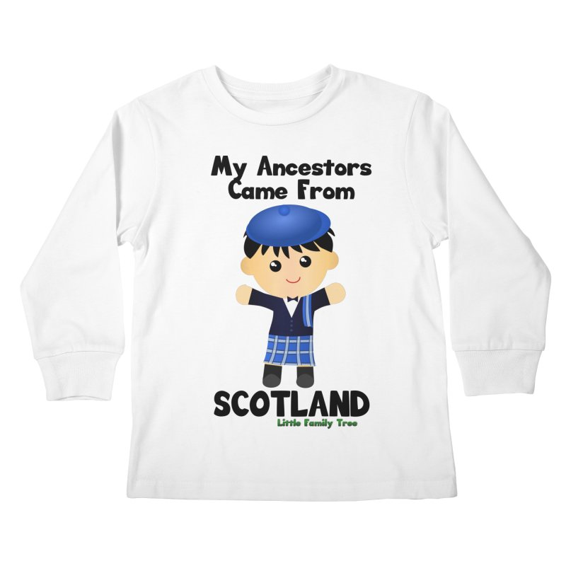 Scotland Ancestors Boy Kids Longsleeve T-Shirt by Yellow Fork Tech's Shop