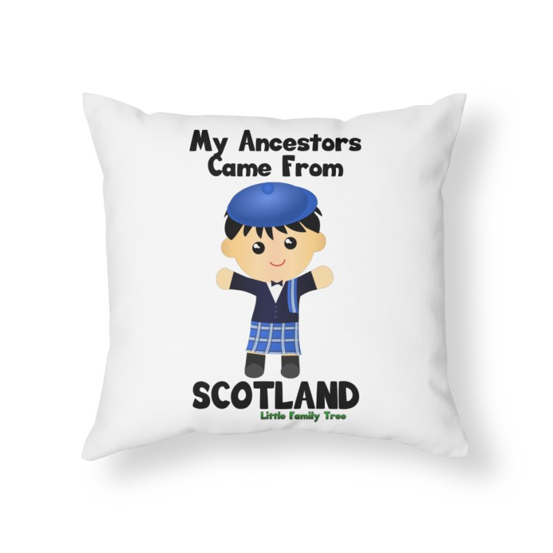 Scotland Ancestors Boy Home Throw Pillow by Yellow Fork Tech's Shop