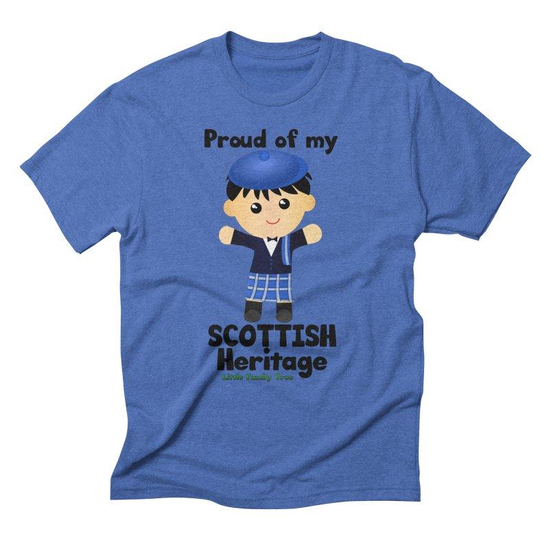 Scottish Heritage Boy Men's Triblend T-Shirt by Yellow Fork Tech's Shop