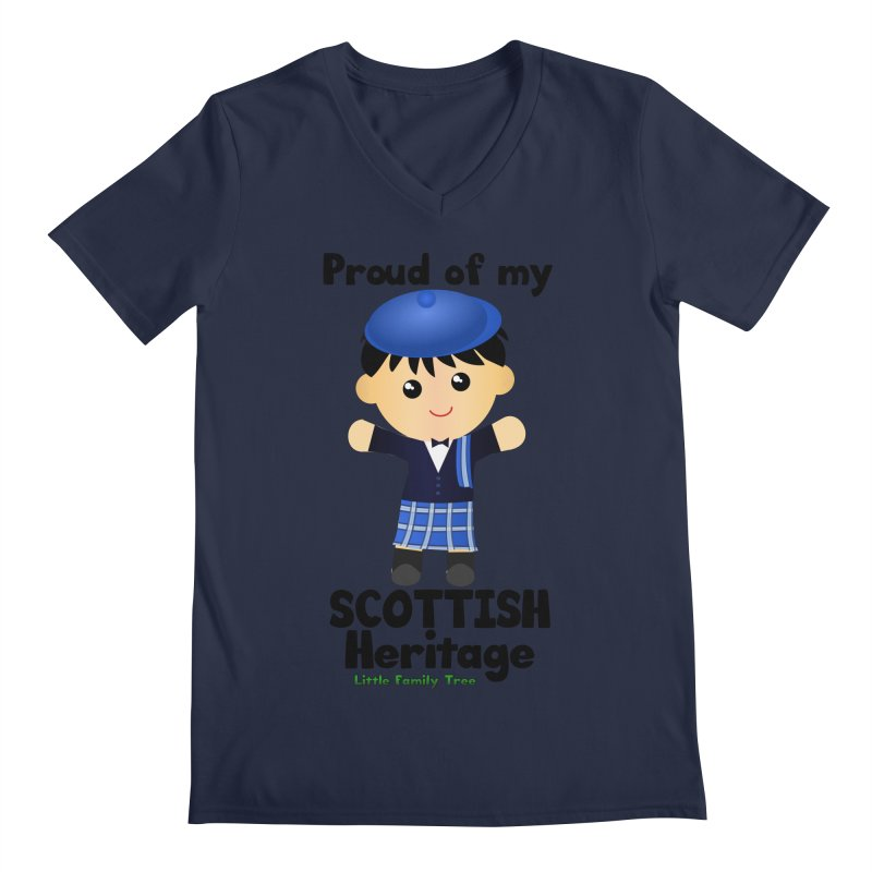 Scottish Heritage Boy Men's V-Neck by Yellow Fork Tech's Shop