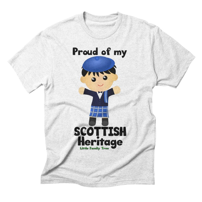 Scottish Heritage Boy Men's Triblend T-shirt by Yellow Fork Tech's Shop