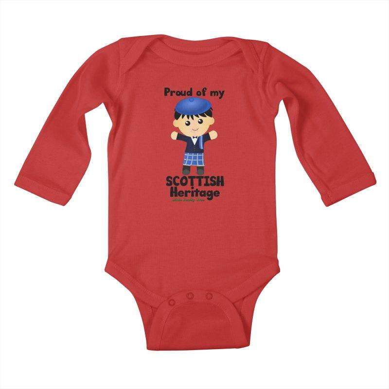 Scottish Heritage Boy Kids Baby Longsleeve Bodysuit by Yellow Fork Tech's Shop