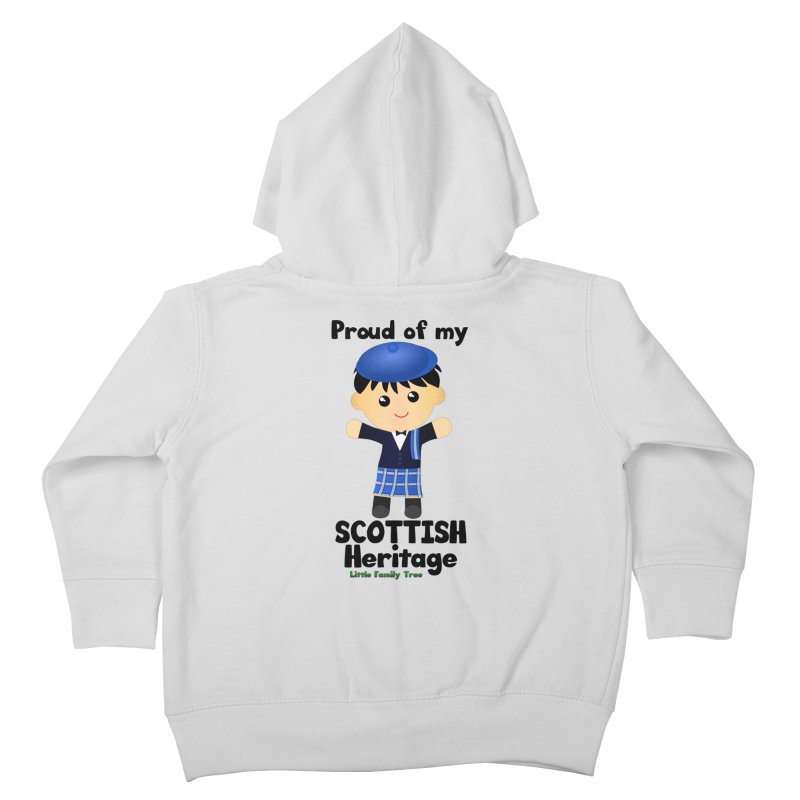 Scottish Heritage Boy Kids Toddler Zip-Up Hoody by Yellow Fork Tech's Shop