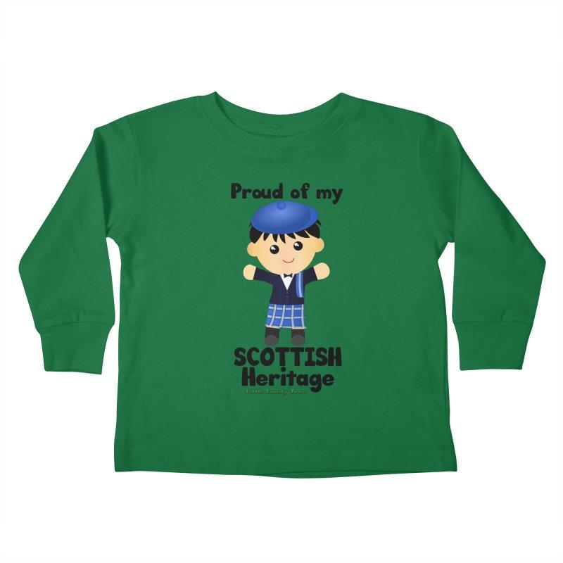 Scottish Heritage Boy Kids Toddler Longsleeve T-Shirt by Yellow Fork Tech's Shop