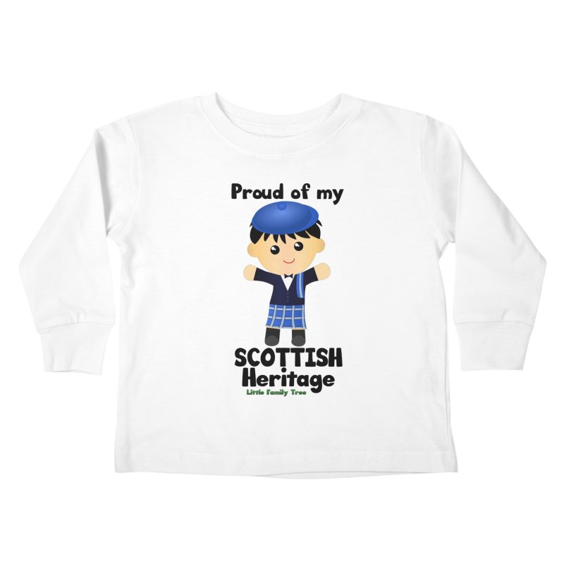 Scottish Heritage Boy Kids Toddler Longsleeve T-Shirt by Yellow Fork Tech's Shop