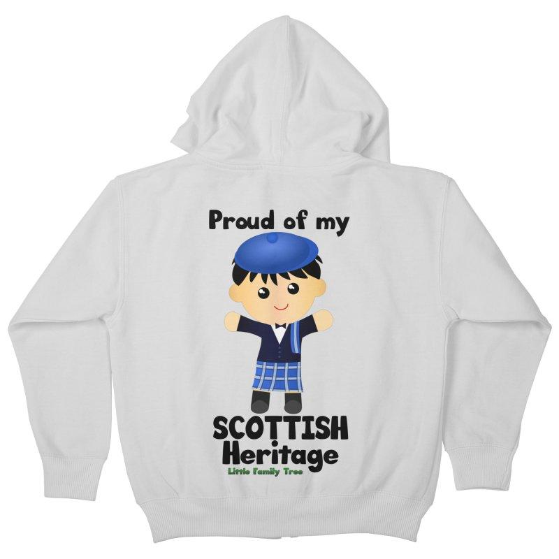 Scottish Heritage Boy Kids Zip-Up Hoody by Yellow Fork Tech's Shop