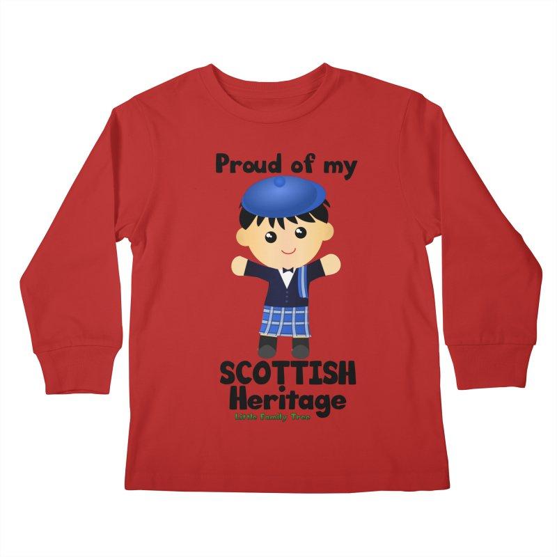 Scottish Heritage Boy Kids Longsleeve T-Shirt by Yellow Fork Tech's Shop