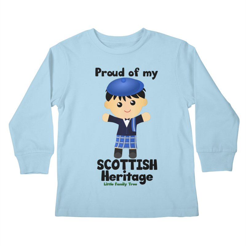 Scottish Heritage Boy Kids Longsleeve T-Shirt by Yellow Fork Tech's Shop