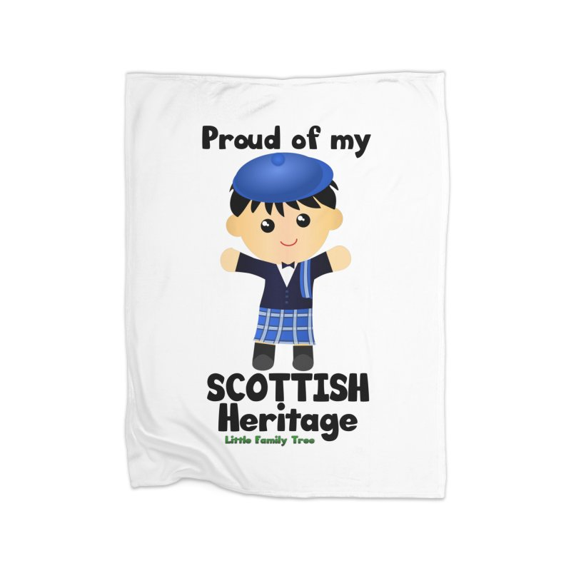 Scottish Heritage Boy Home Blanket by Yellow Fork Tech's Shop