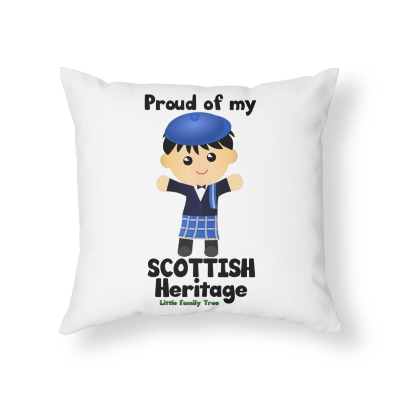 Scottish Heritage Boy Home Throw Pillow by Yellow Fork Tech's Shop