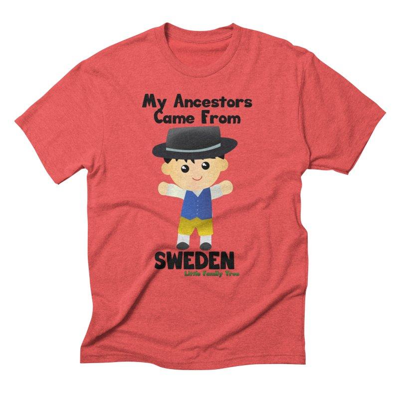 Sweden Ancestors Boy Men's Triblend T-shirt by Yellow Fork Tech's Shop