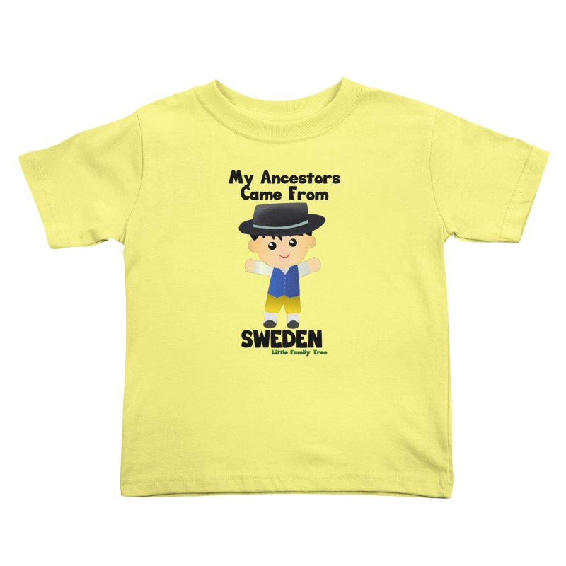 Sweden Ancestors Boy Kids Toddler T-Shirt by Yellow Fork Tech's Shop